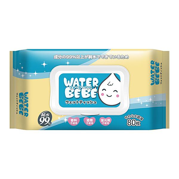 水滴貝貝 超厚純水柔濕巾80抽(附蓋)黃