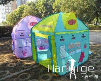 免運 兒童帳篷公主過家家男孩室內室外游戲屋寶寶玩具房子   韓國時尚週