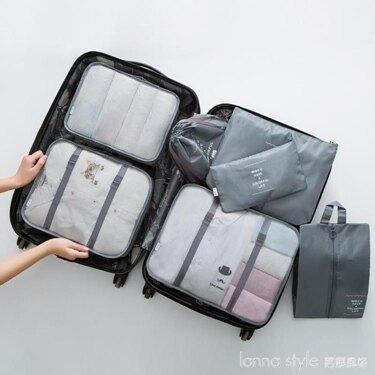 免運 旅行收納袋行李箱內衣收納袋子整理袋旅游便攜衣物衣服收納包套裝 韓國時尚週