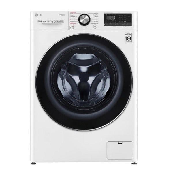 LG 樂金 WiFi滾筒洗衣機 蒸洗脫烘 WD-S105VDW 10.5公斤 典雅白 原廠保固 結帳更優惠 黑皮TIME