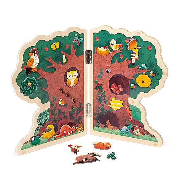 【法國Janod】磁鐵遊戲板-快樂樹屋