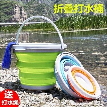 領券下定更優惠 戶外加厚折疊釣魚桶水桶便攜釣魚圓形打水桶魚桶漁具用品垂釣 韓國時尚週
