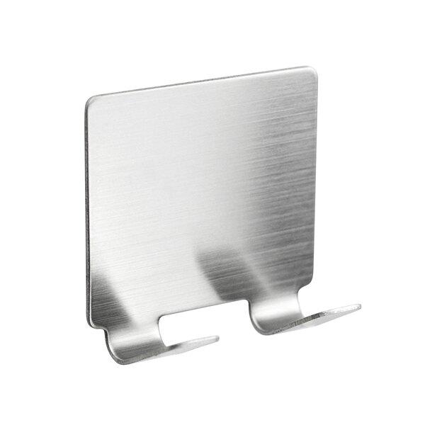 不鏽鋼掛勾雙勾 免打孔黏貼掛衣架 廚房抹布晾曬衣架 收納門後掛勾 掛勾