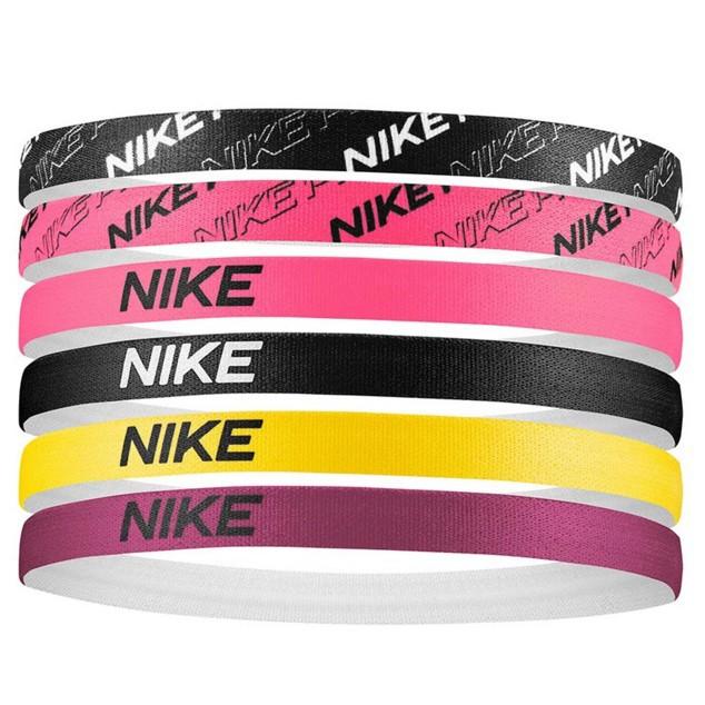 NIKE 頭飾印花髮帶 新花色 6入 粉色 黑色 黃色 全新正品