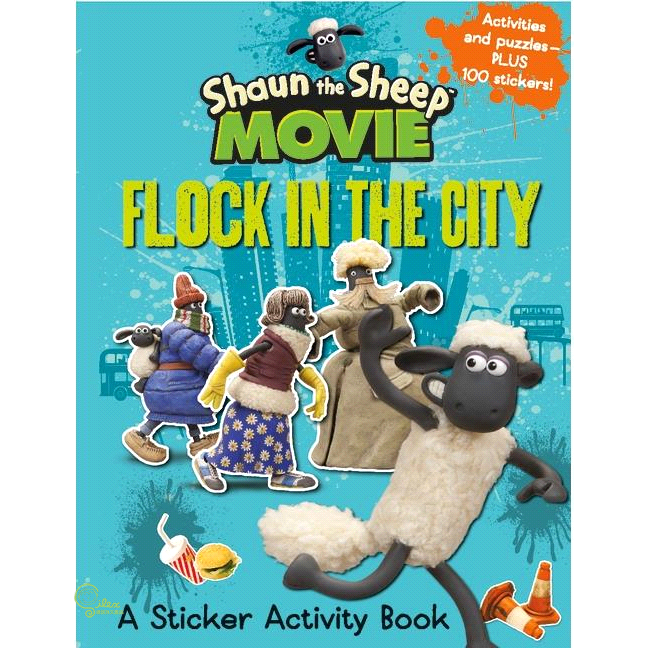 Shaun the Sheep Movie - Flock in the City Sticker【禮筑外文書店】