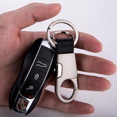 免運 jobon中邦汽車鑰匙扣男士腰掛簡約鑰匙錬掛件金屬鑰匙圈創意禮品   韓國時尚週