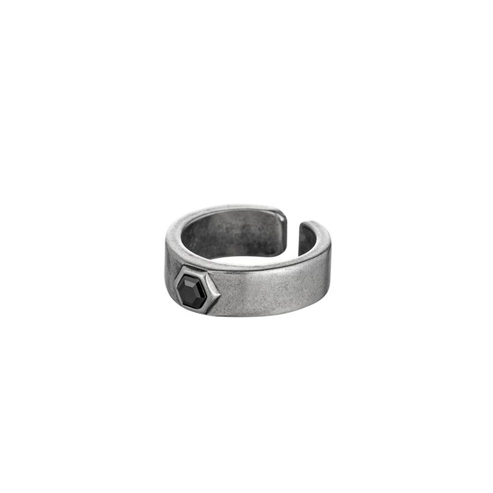 【SOLO ACCESSORIES】簡約方柱戒指 - 古銀款