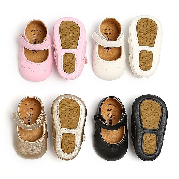 經典圓頭 娃娃鞋 軟膠片 學步鞋 公主鞋 嬰兒鞋 娃娃鞋 鞋子 新生兒 0~24M 橘魔法 現貨 寶寶鞋