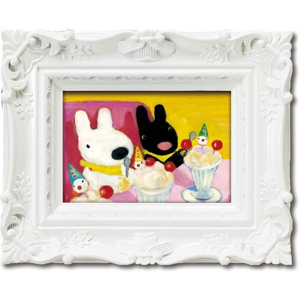【麗莎和卡斯柏】 藝術框畫-聖代