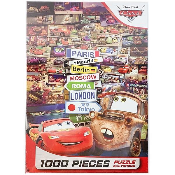 汽車總動員拼圖 1000片拼圖 QFT28B /一盒入(促620) 迪士尼 Disney Cars 世界大賽 75cm x 50cm