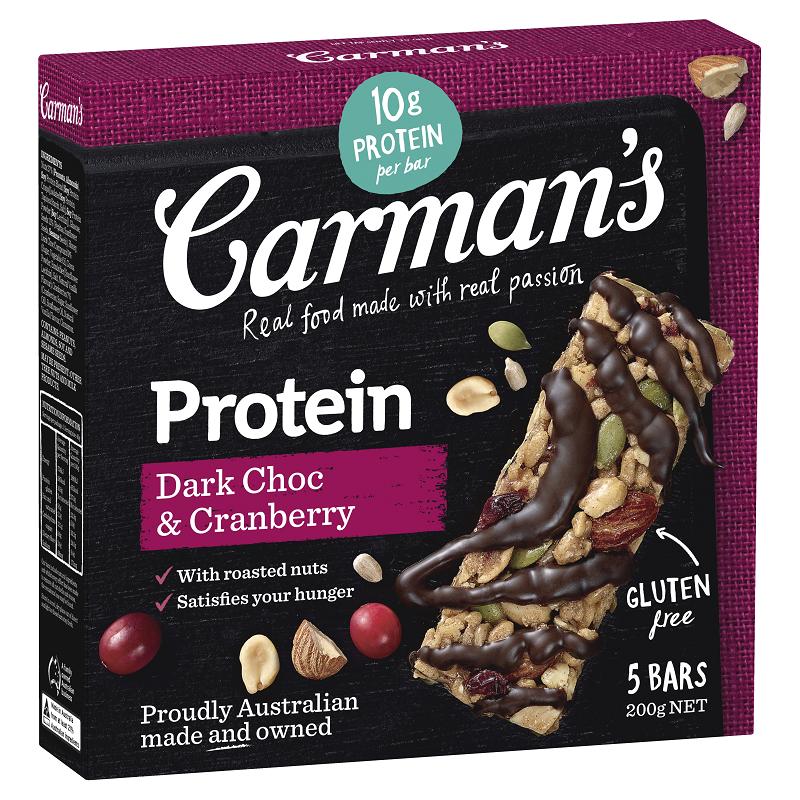 澳洲Carman's黑巧蔓越莓能量棒-200g