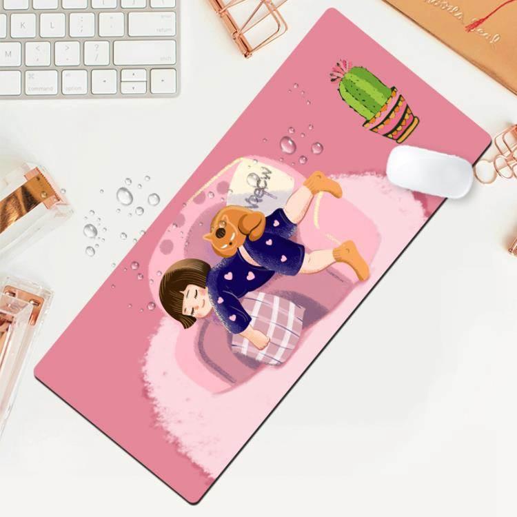 滑鼠墊 滑鼠墊超大定制可愛女生動漫創意個性小號鍵盤電腦辦公寫字桌墊