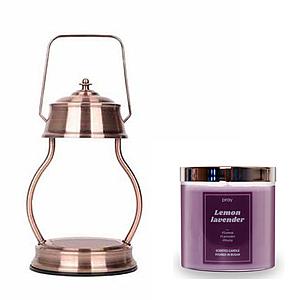 (組)EPOCHSIA x Pray 守夜人金屬香氛蠟燭暖燈(L)-紅棕銅+檸檬