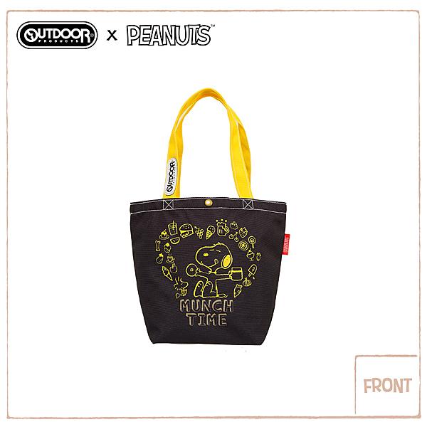 OUTDOOR X SNOOPY 聯名款購物袋-黑色 ODP19F03BK