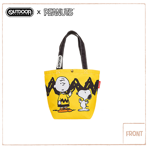 OUTDOOR X SNOOPY 聯名款購物袋-黃/黑色 ODP19F04YL