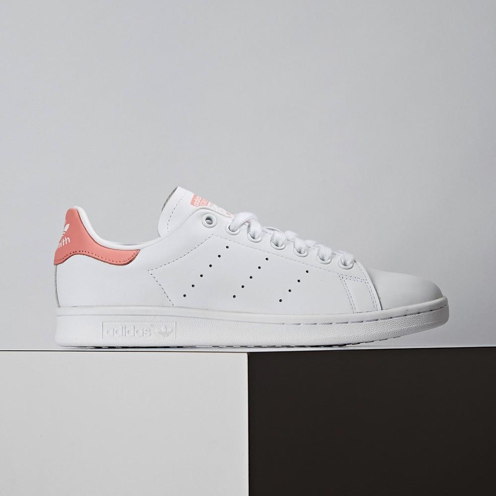 Adidas Originals Stan Smith 女款 白粉 皮革 經典復古 休閒鞋 EF9319