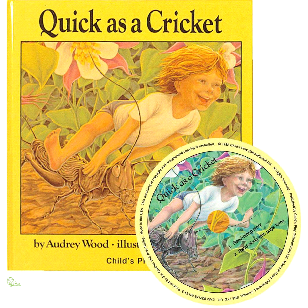 Quick as a Cricket(1平裝+1CD) 廖彩杏老師推薦有聲書第28週【禮筑外文書店】[69折]
