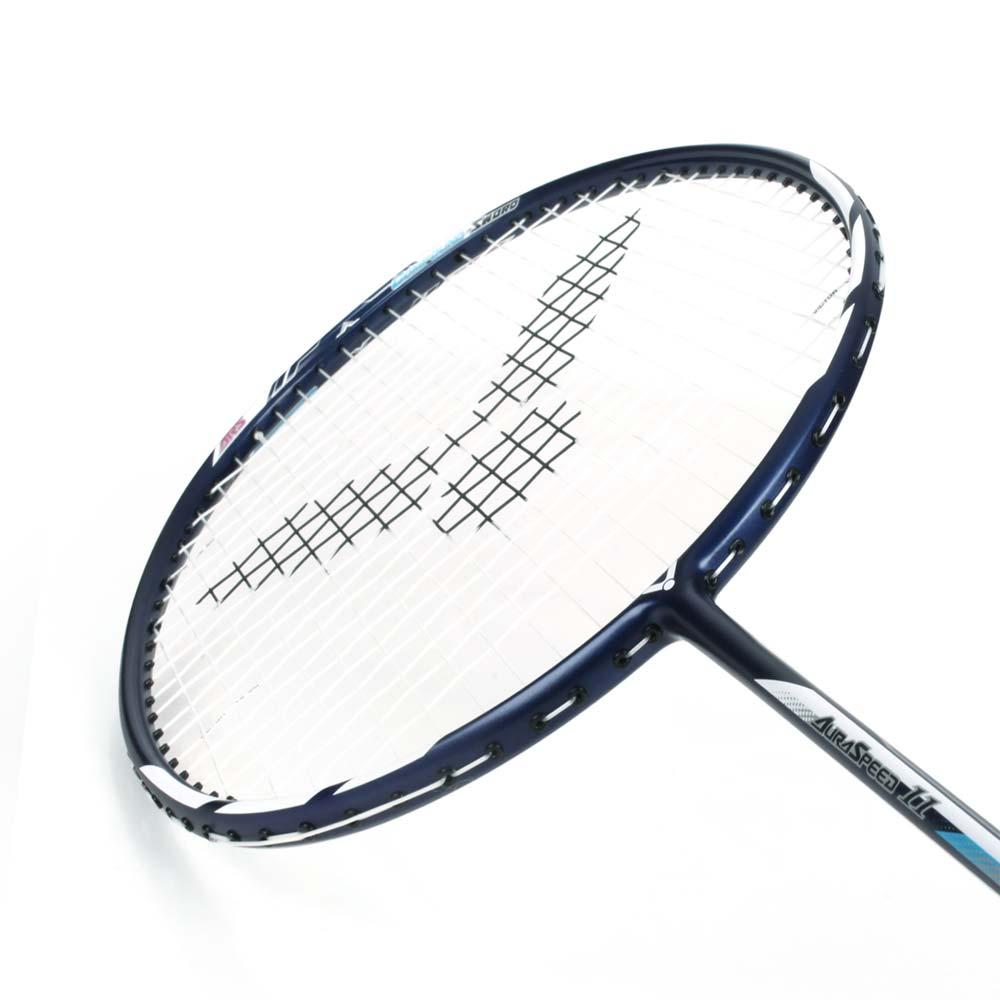 VICTOR 神速-穿線拍-4U-訓練 羽毛球 練習 勝利 丈青白藍 F
