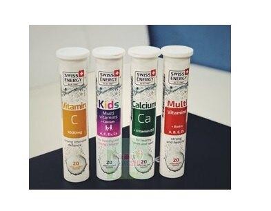 SWISS ENERGY  兒童綜合維他命+鈣發泡錠  20顆/罐x2瓶(組)