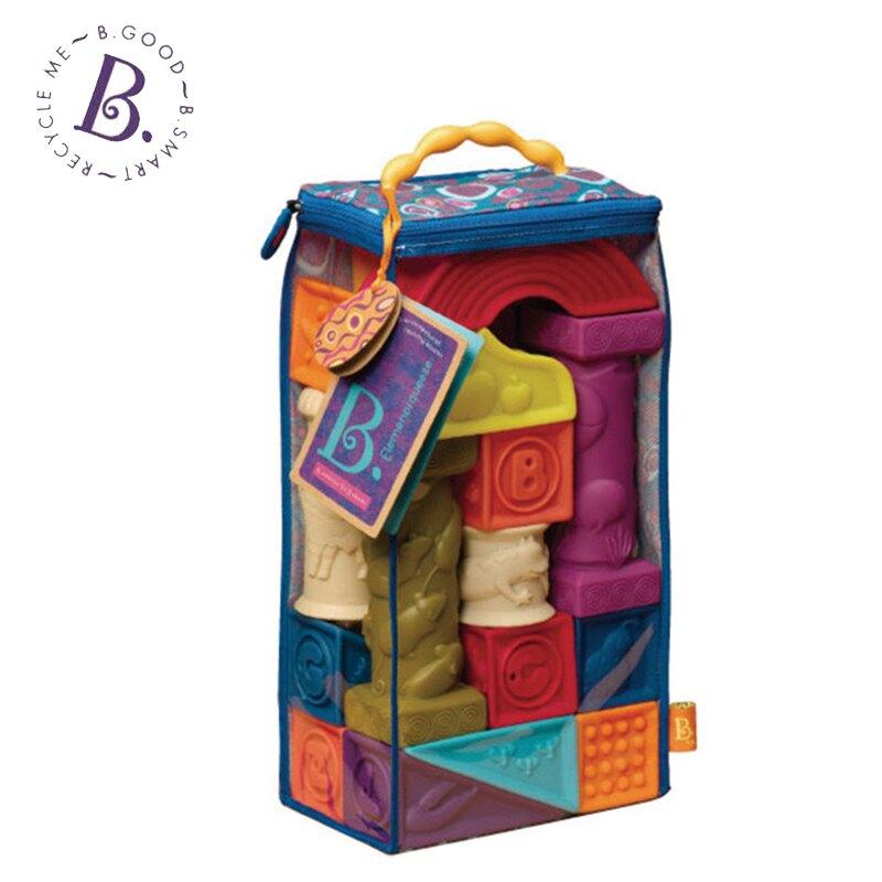 美國【B.toys】寶寶軟積木 羅馬城堡-米菲寶貝