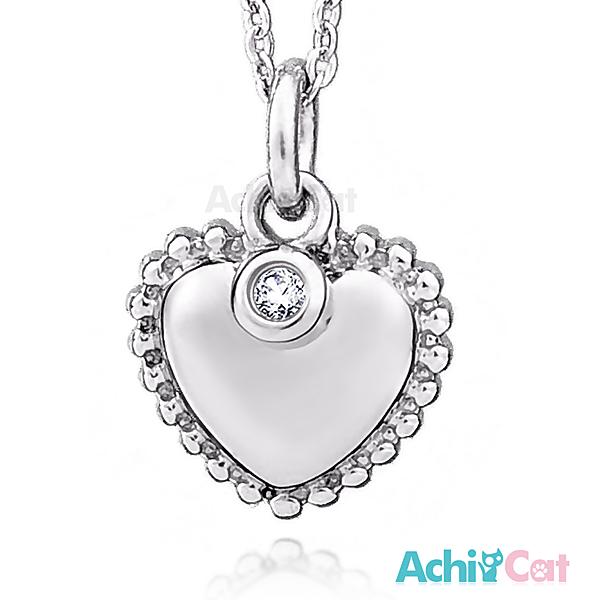 AchiCat 鋼項鍊 珠寶白鋼 高雅愛心 C1534