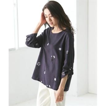 【大きいサイズ】 レーヨン麻刺しゅうブラウス(オトナスマイル)  plus size shirts, テレワーク, 在宅, リモート