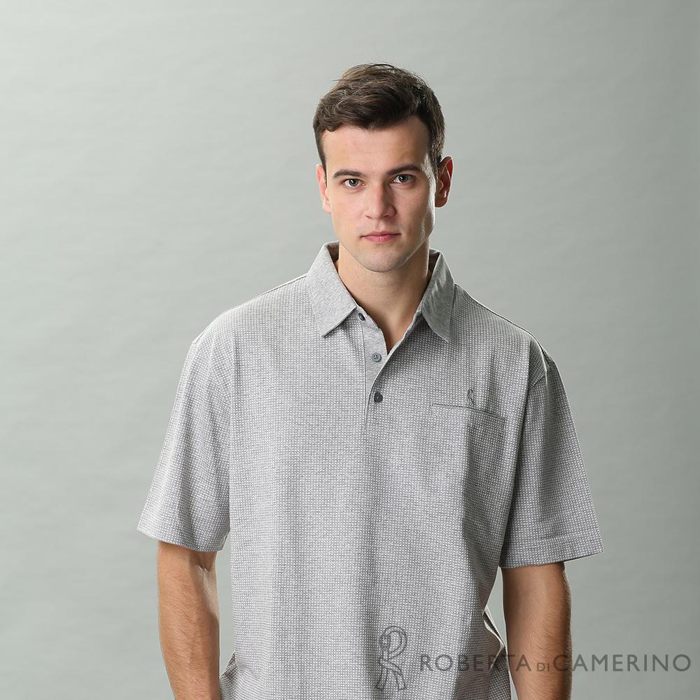 ROBERTA諾貝達 台灣製 吸汗速乾 休閒短袖POLO棉衫 灰色