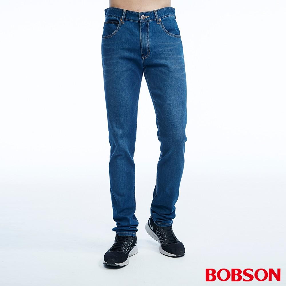 BOBSON 男款低腰涼爽紗直筒褲(1823-53)