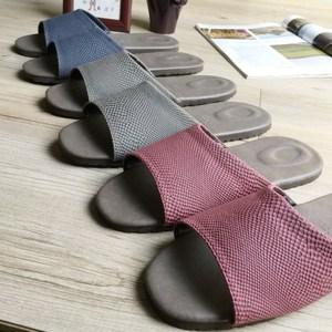 【iSlippers】風格系列-晶鑽紋皮質室內拖鞋晶鑽藍XL