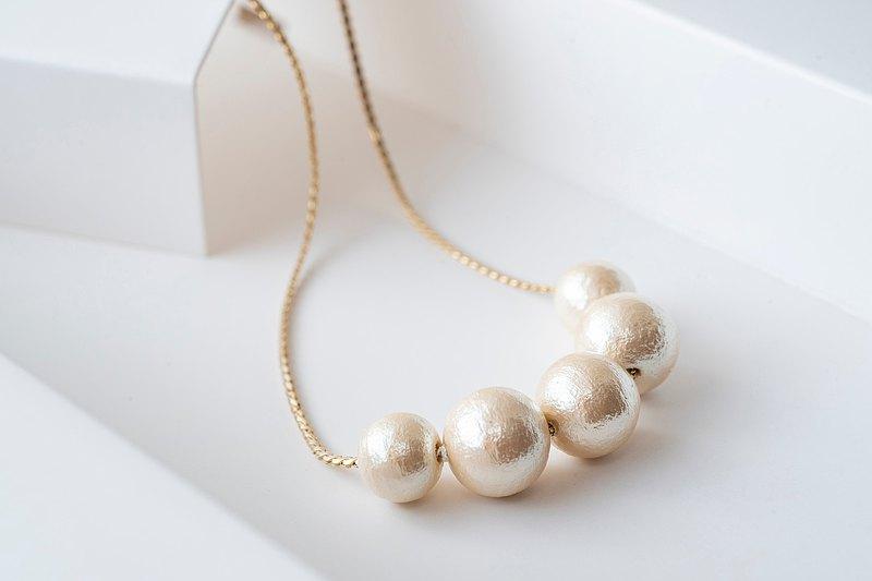 kaza。棉珍珠長項鍊