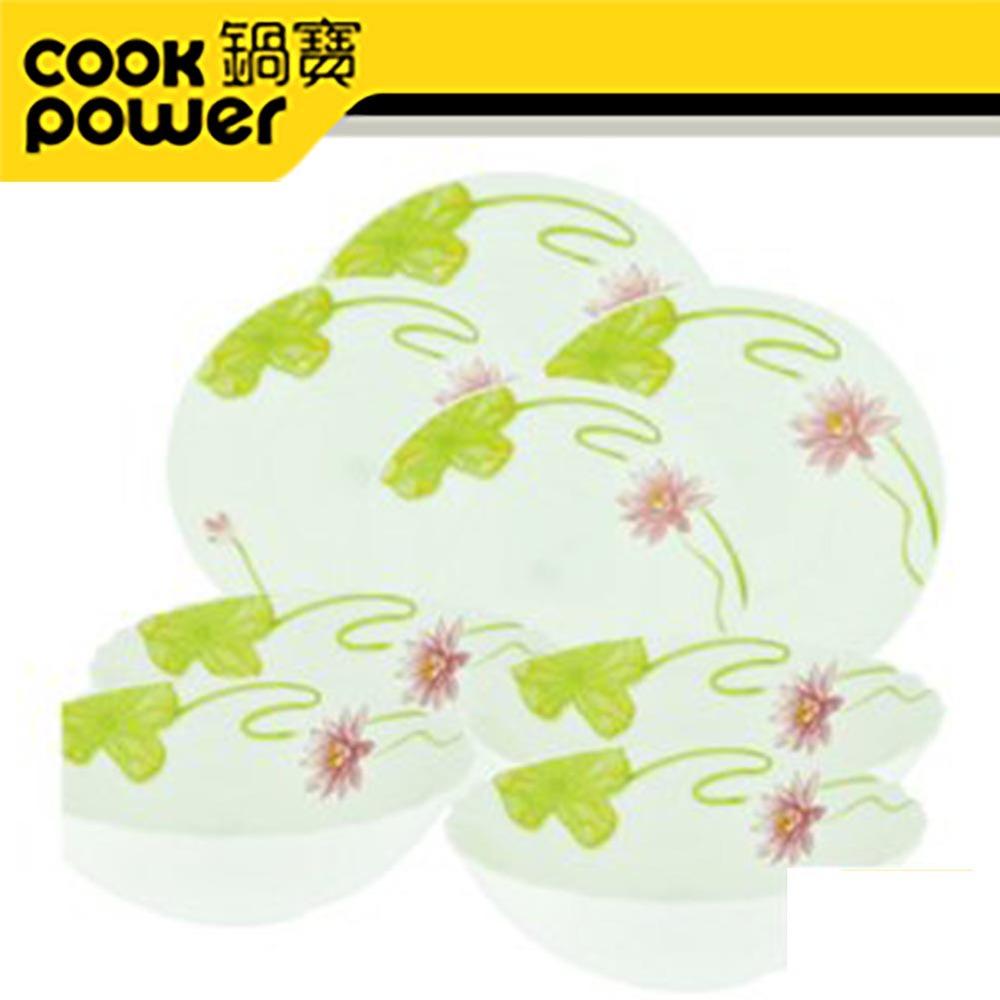 鍋寶強化耐熱玻璃餐盤湯碗9件組EO-SB748Z39Z284323Z2
