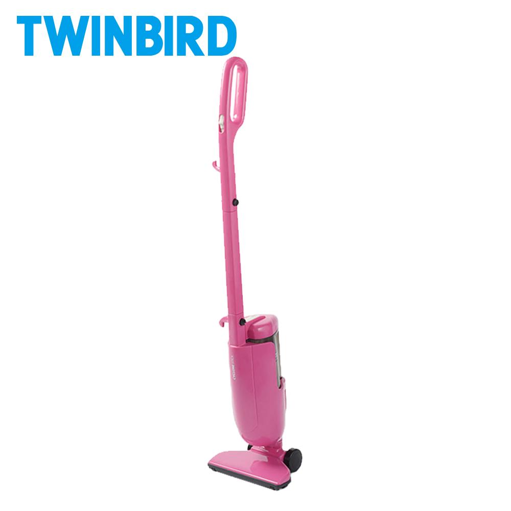 日本Twinbird強力手持直立兩用吸塵器ASC-80TWP(粉)