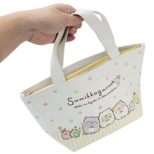 角落生物Sumikko Gurashi 2Way保冷手提便當袋,保冷袋/購物袋/雜物袋/便當袋/保溫袋/保鮮餐袋/食物袋,X射線【C115051】