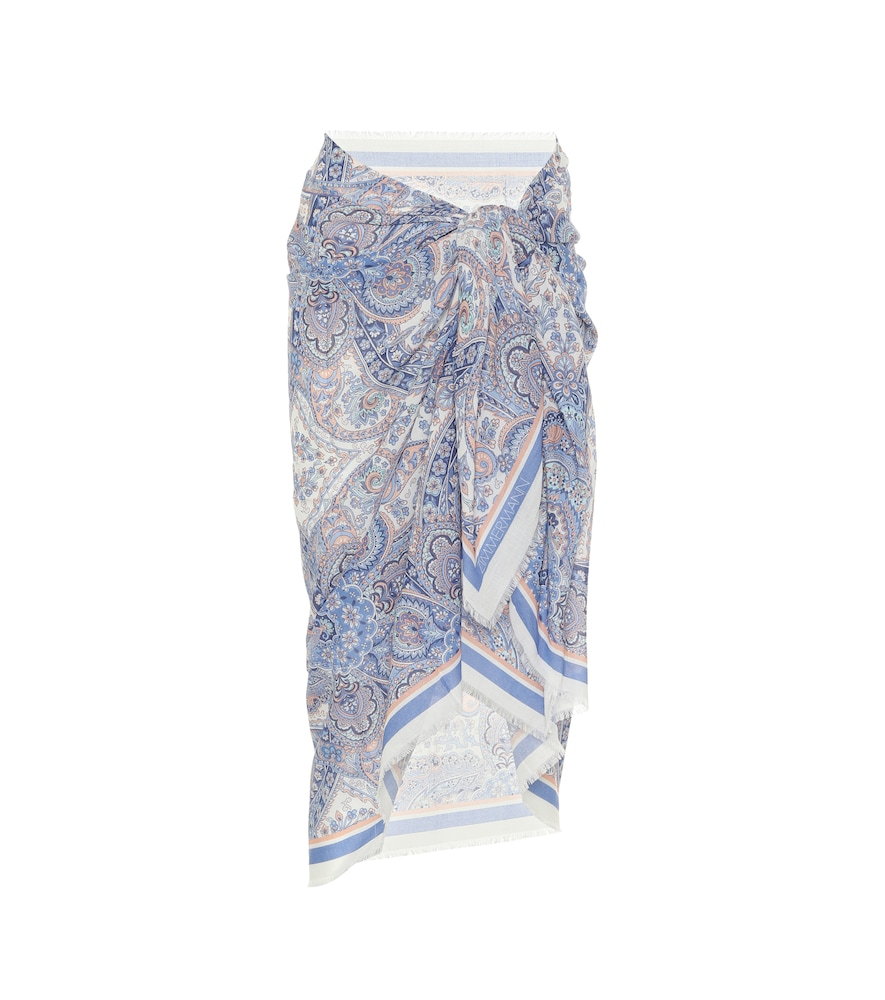 Exclusive to Mytheresa - Sarong cotton skirt