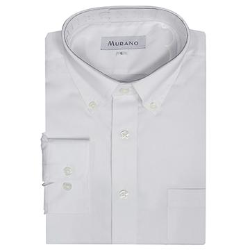 [MURANO]正式長袖襯衫-白色