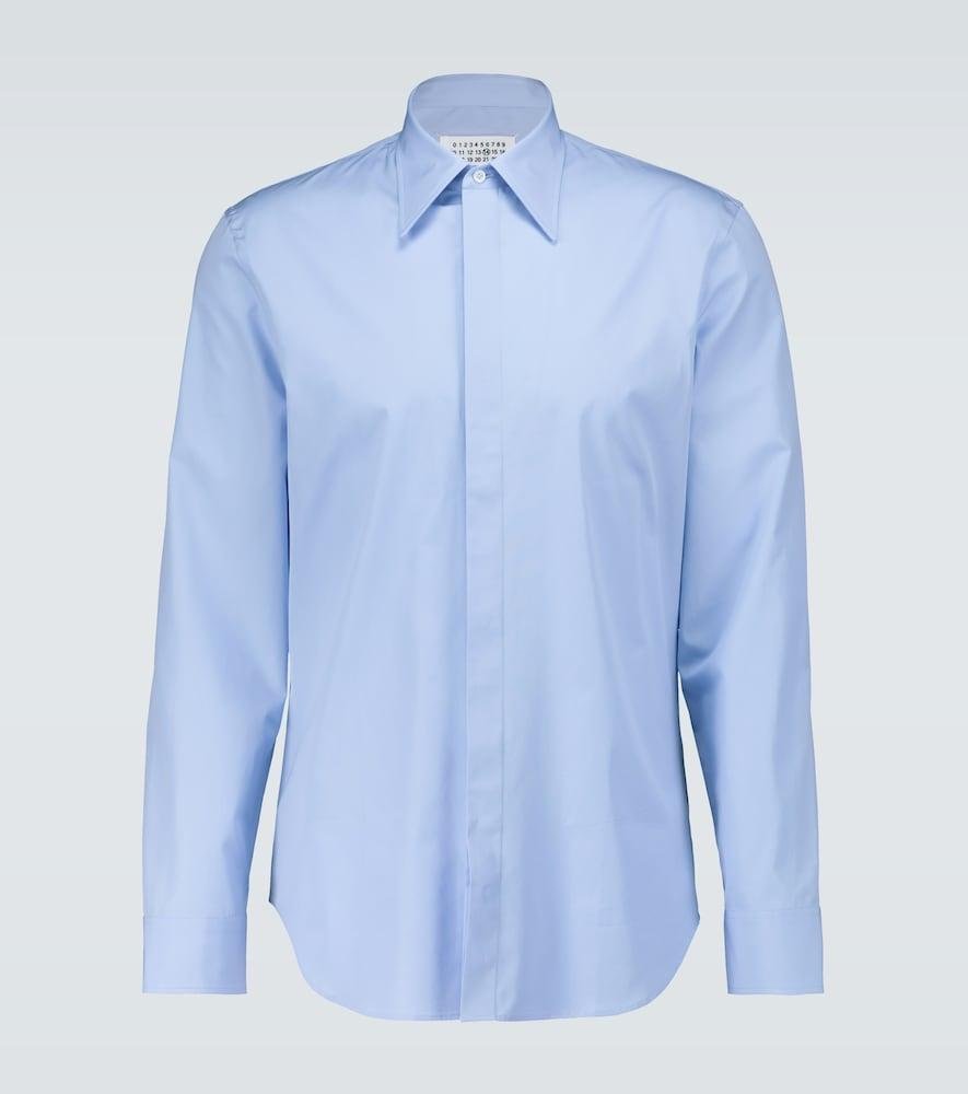 Cotton poplin slim-fit shirt