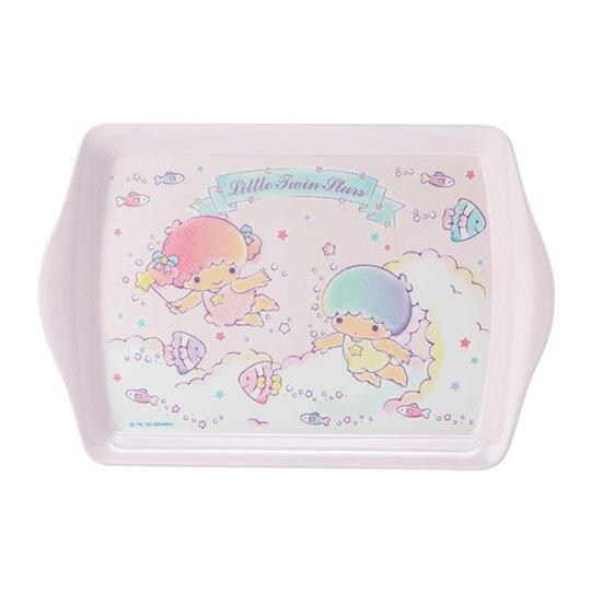 【領券折$30】小禮堂 雙子星 迷你 美耐皿托盤 方盤 塑膠盤 餅乾盤 置物盤 (粉 2020新生活)