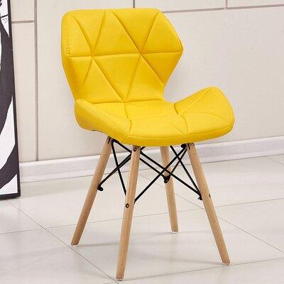 簡約餐椅 北歐實木餐椅現代簡約化妝椅創意矮背椅休閒家用靠背椅伊姆斯椅子『MY3481』