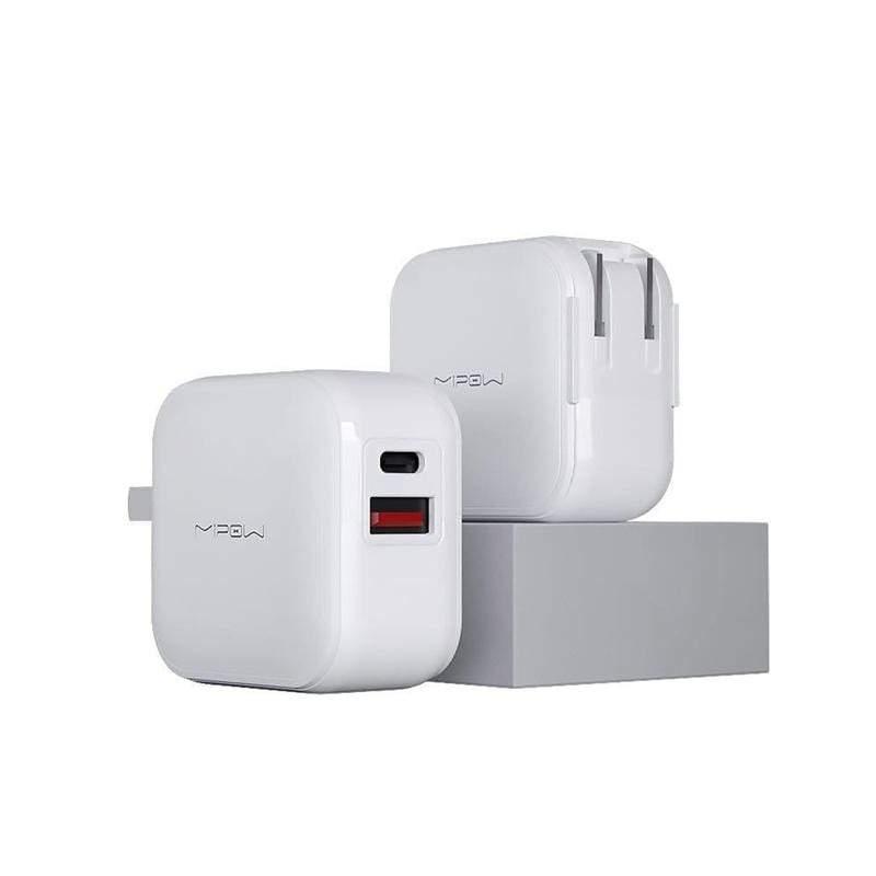 閃充迷你PD 18W快充摺疊旅充充電器 SPAC05 白色18W