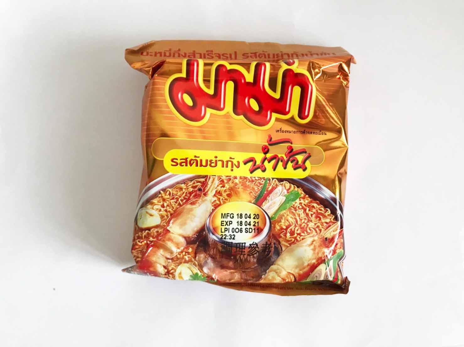 泰國 泰國進口 MAMA麵 媽媽麵 泡麵小泡麵 泡麵 特級酸辣味麵 55G