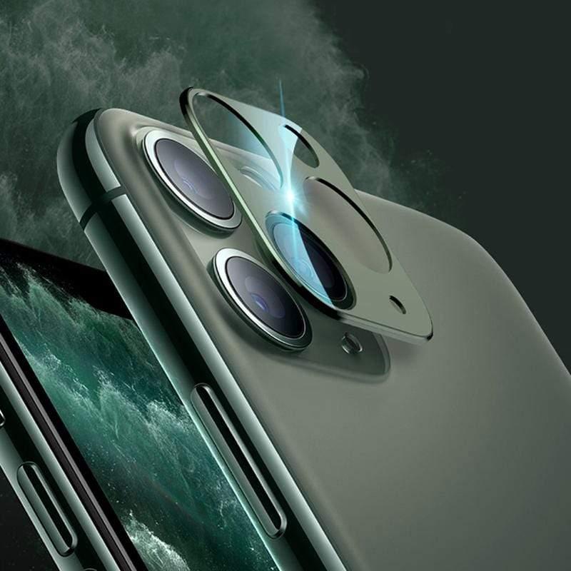 鎧甲iPhone11 ,iPhone11 Pro Max鑽石級鏡頭保護套 AB-049 iPhone 11 Pro max-暗綠