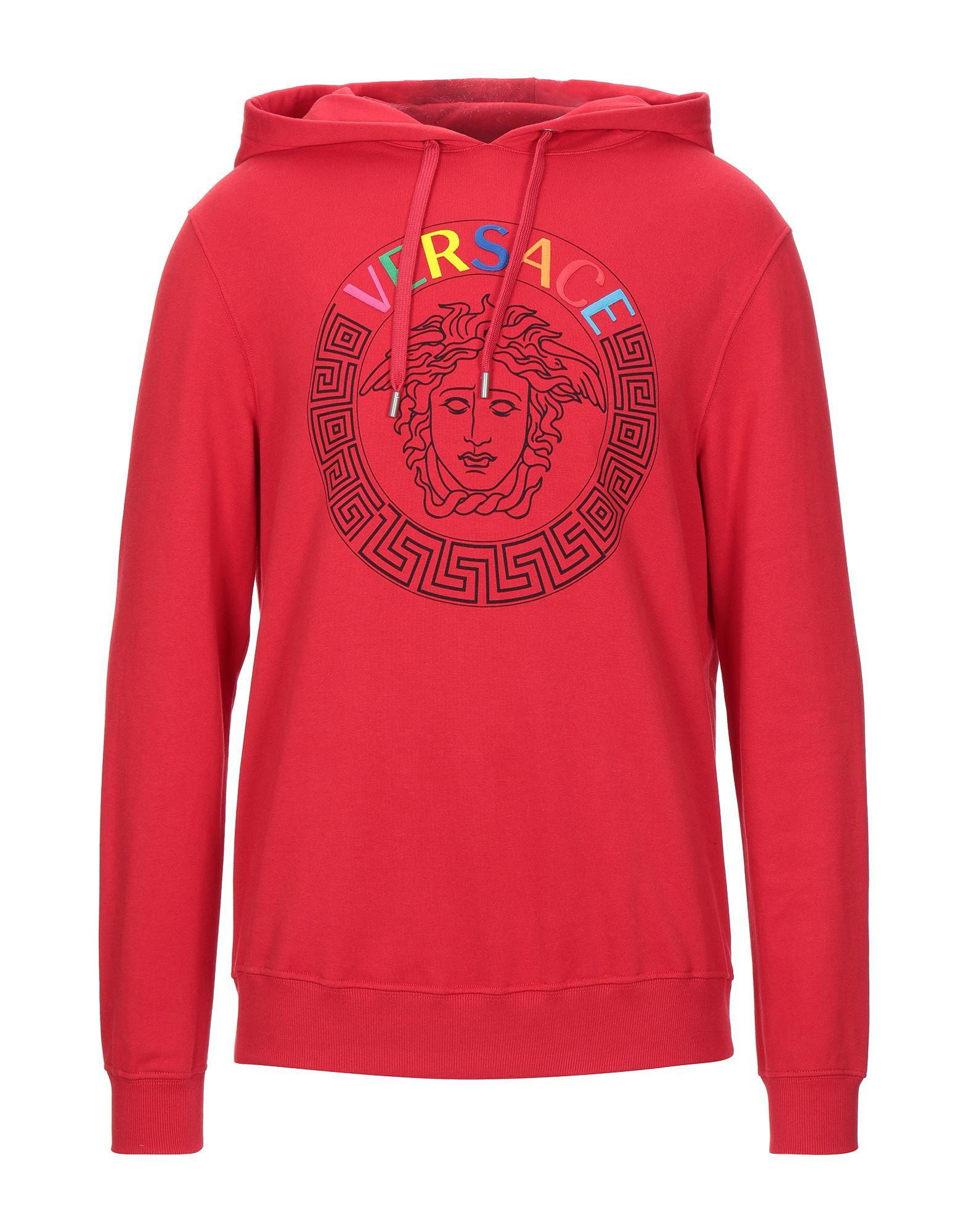 sweatshirt fleece, contrasting applications, logo, solid color, hooded collar, long sleeves, no pock