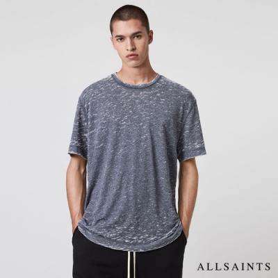 ALLSAINTS TRINITY 隨性不規則花紋混棉短袖T恤-藍灰