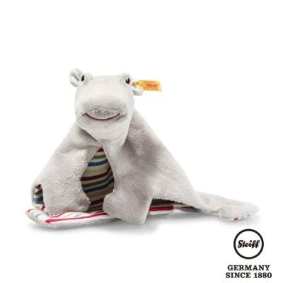STEIFF德國金耳釦泰迪熊 呆萌小河馬 Torben hippopotamus comforter (嬰幼兒安撫巾)