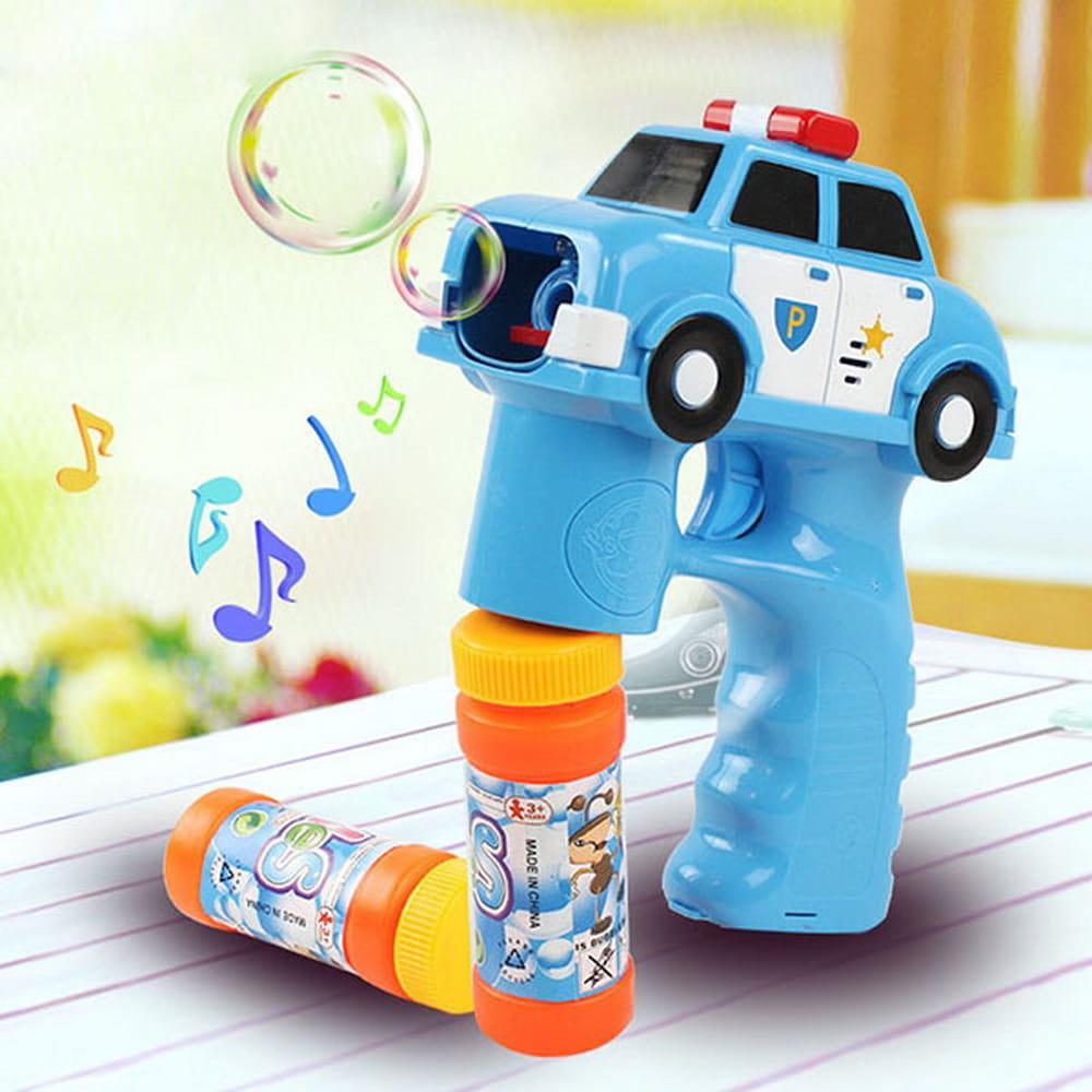 警察車造型連續式電動泡泡槍(有LED燈+音樂)【888便利購】