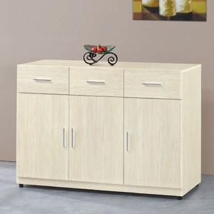 【MUNA 家居】凱野白雪杉4尺餐櫃/碗盤櫃