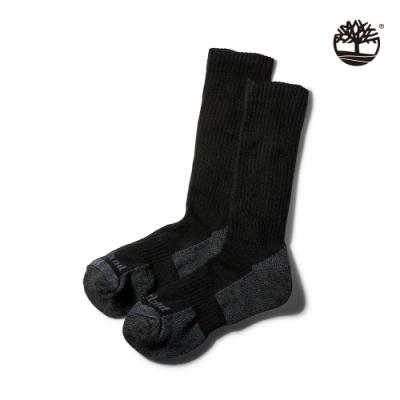 Timberland 男款黑色比狄福德羅紋針織半緩衝長襪|A1F1M