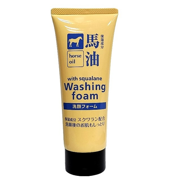 日本熊野H馬油柔嫩光滑洗面乳130 g/日本製/清潔去角質滋潤臉部肌膚一次完成