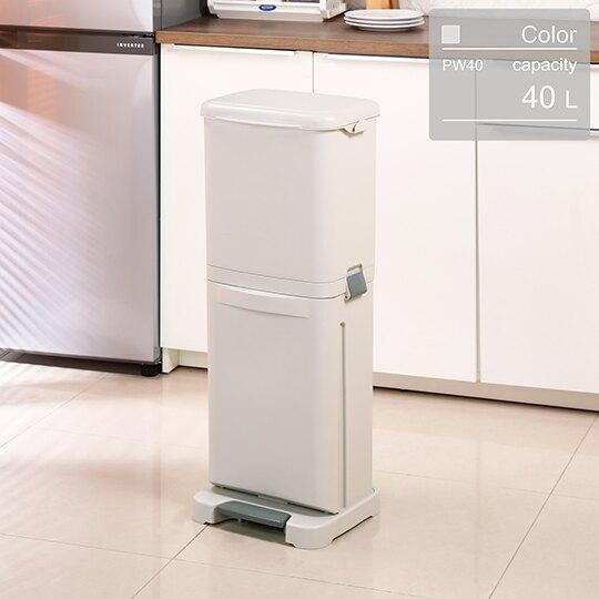 聯府KEYWAY台北四分類垃圾桶( PW-40)清潔垃圾桶上下層直立式環保桶腳踏式回收桶直立式附蓋40L(依凡卡百貨)