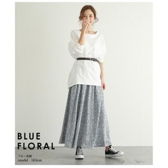 【la-gemme】花柄フレアロングスカート (ロング丈・マキシ丈スカート)Skirts